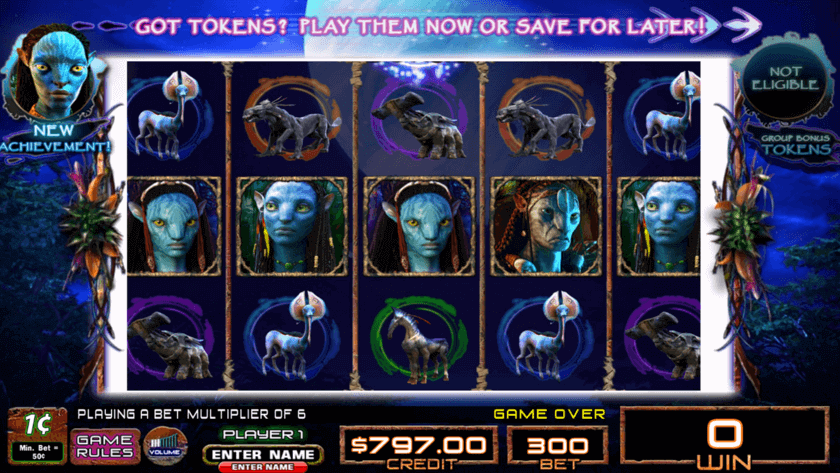 Image of James Cameron's Avatar Online Slot in play