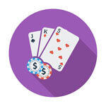 Image of Baccarat Hand at an Online casino