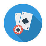 Image of Blackjack cards at Online casinos