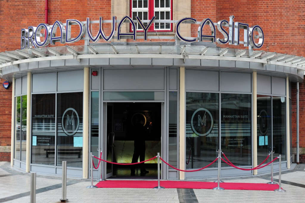An image of the outside of Broadway Casino
