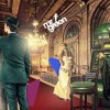 The Mr Green mascot appears in an opulent hallway with a wizard, a slot machine and a fairy