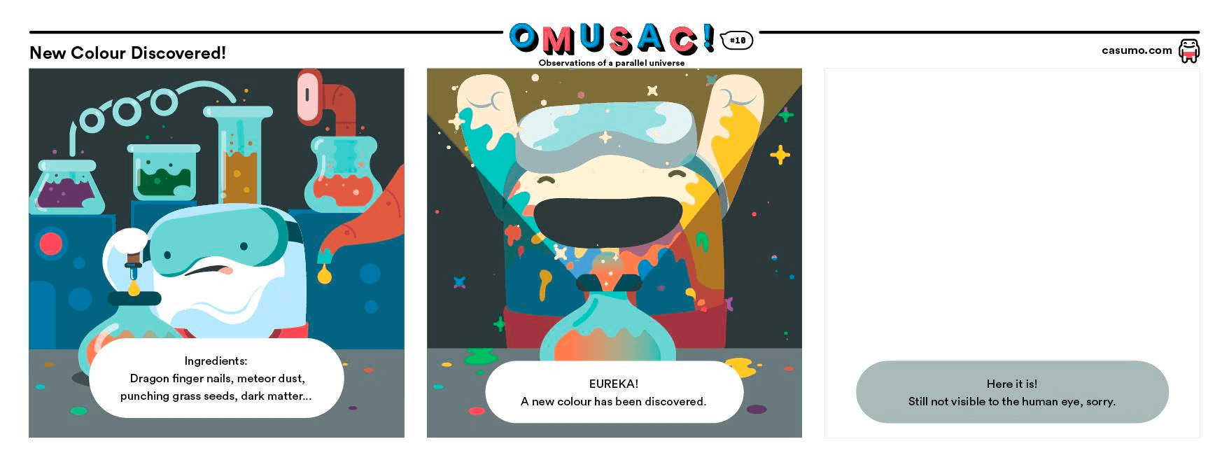 Omusac comic strip from Casumo casino