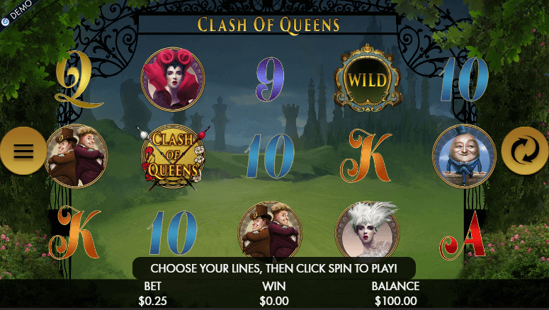 mage of Clash of Queens online slot in play