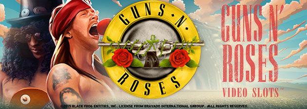 Image of guns n roses slot logo