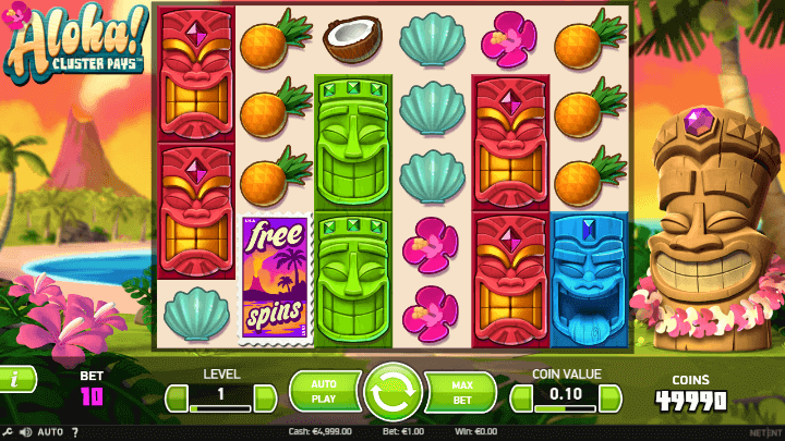 Play Aloha! Slot Online at Casino.com UK