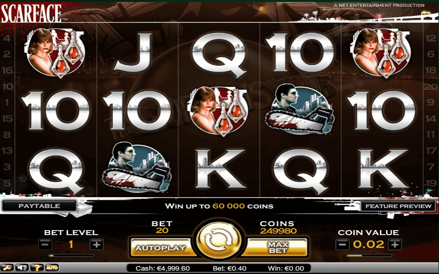 Image of Scarface online slot