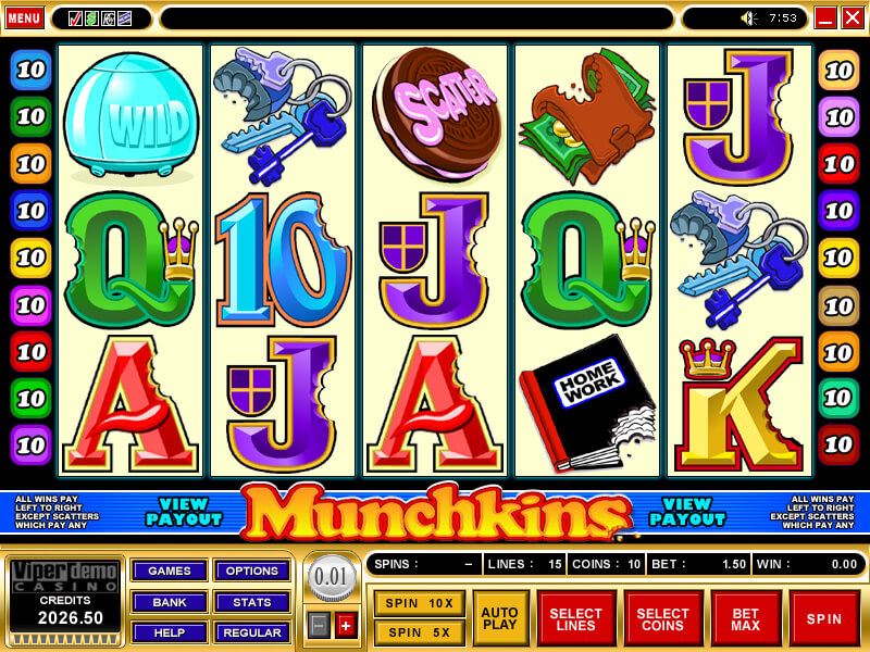 A screenshot of Muchkins Online Slot
