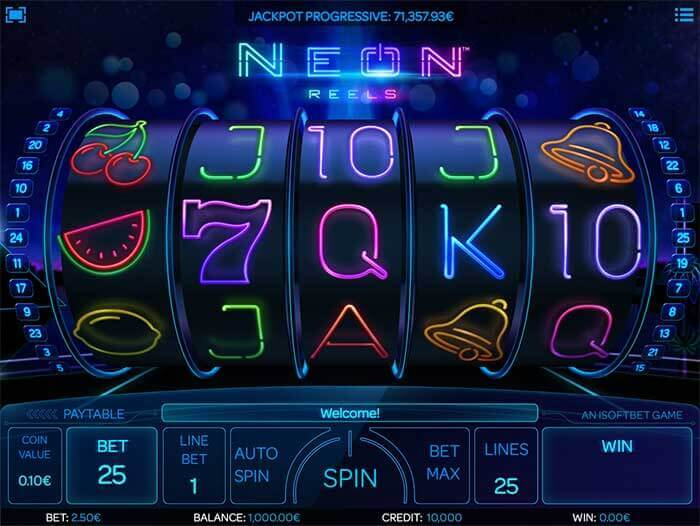 Image of Neon Reels slot in play