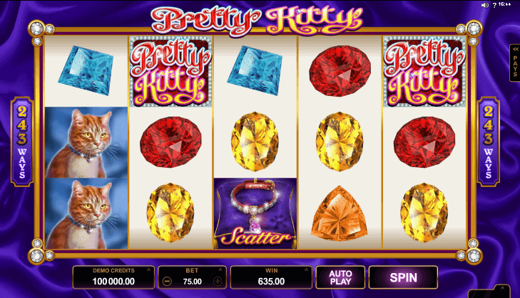Image of Pretty Kitty Online Slot in play