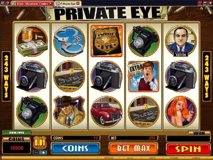 A screenshot of Private Eye Online Slot