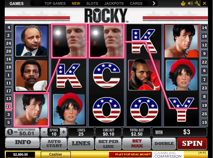 Image of Rocky Online Slot in Play