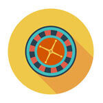 Image of a Roulette wheel in Online casinos