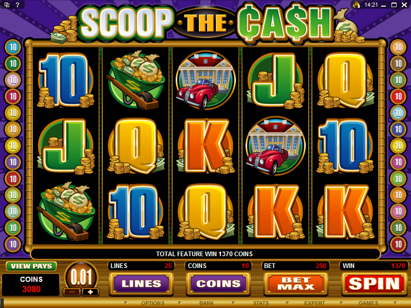 A screenshot of Scoop the Cash Online Slot