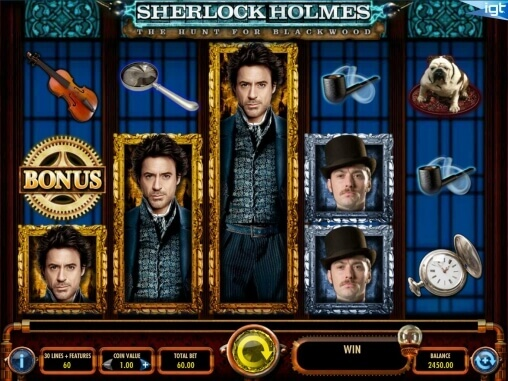 Image of Sherlock Holmes in play