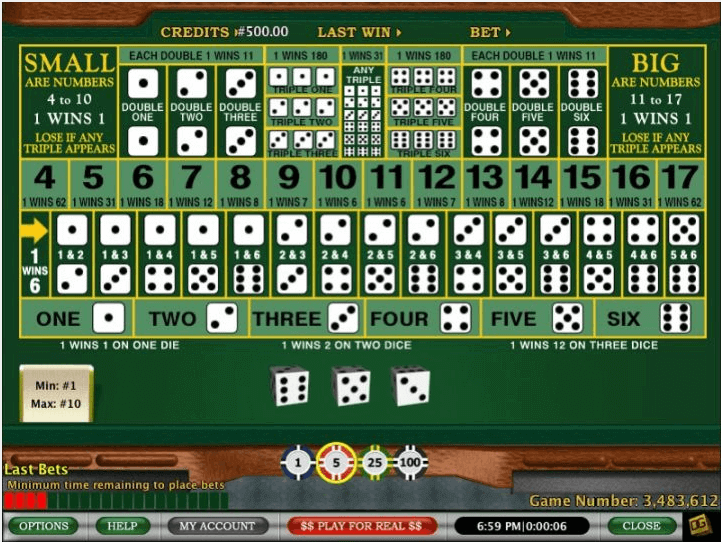 online casino roulette sic bo