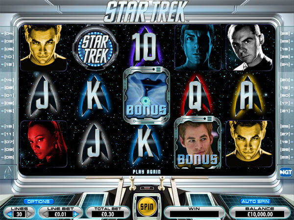 Image of Star Trek Online Slot in play