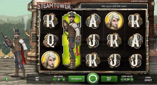 A screenshot of the Steam Tower gameplay