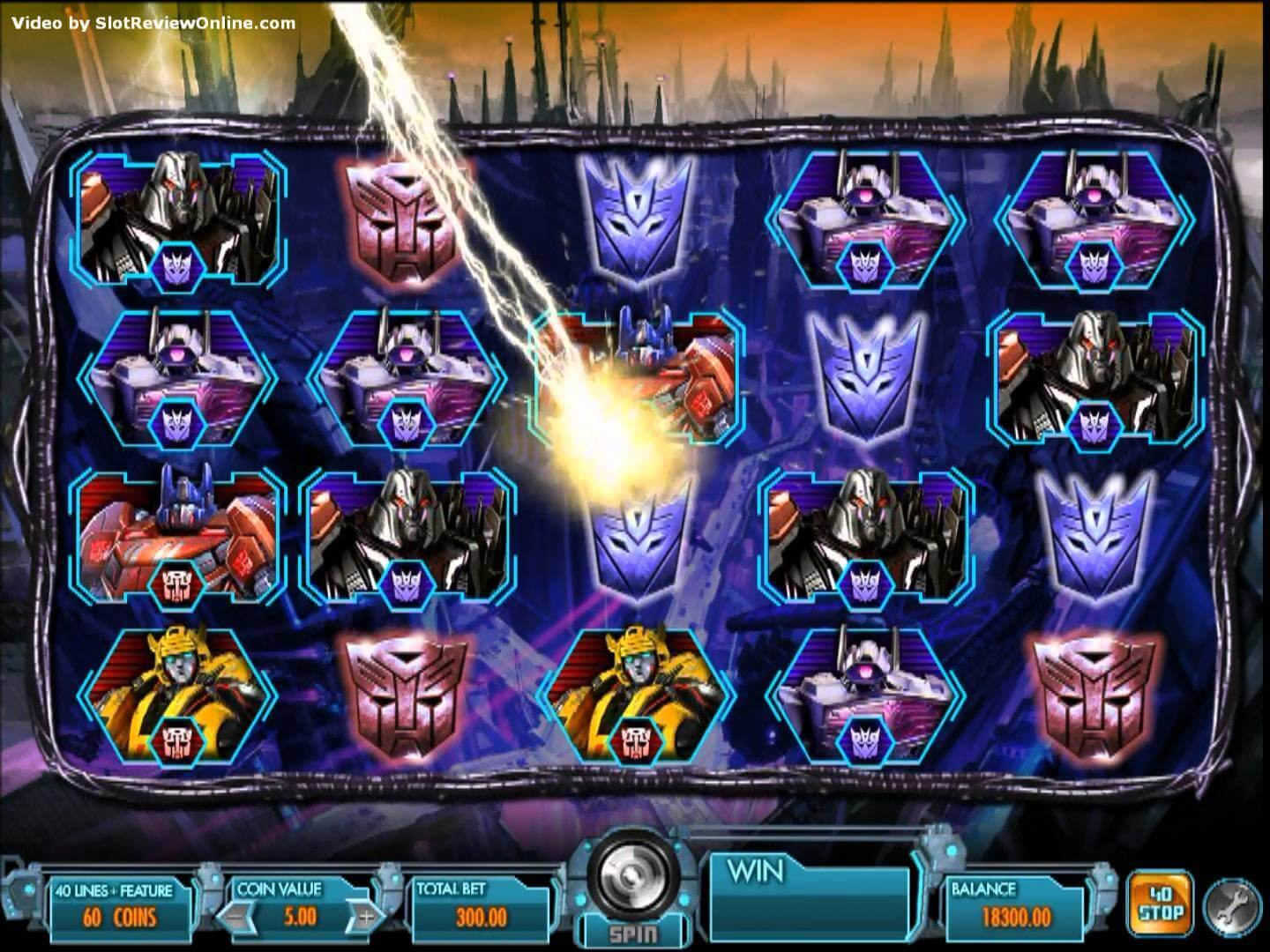 Image of Transformers Battle for Cybertron Online Slot in play