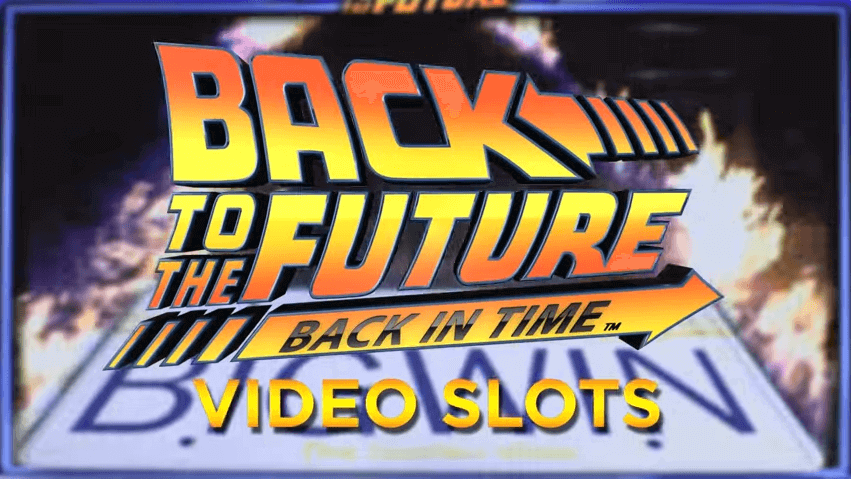 back to the future online slot logo