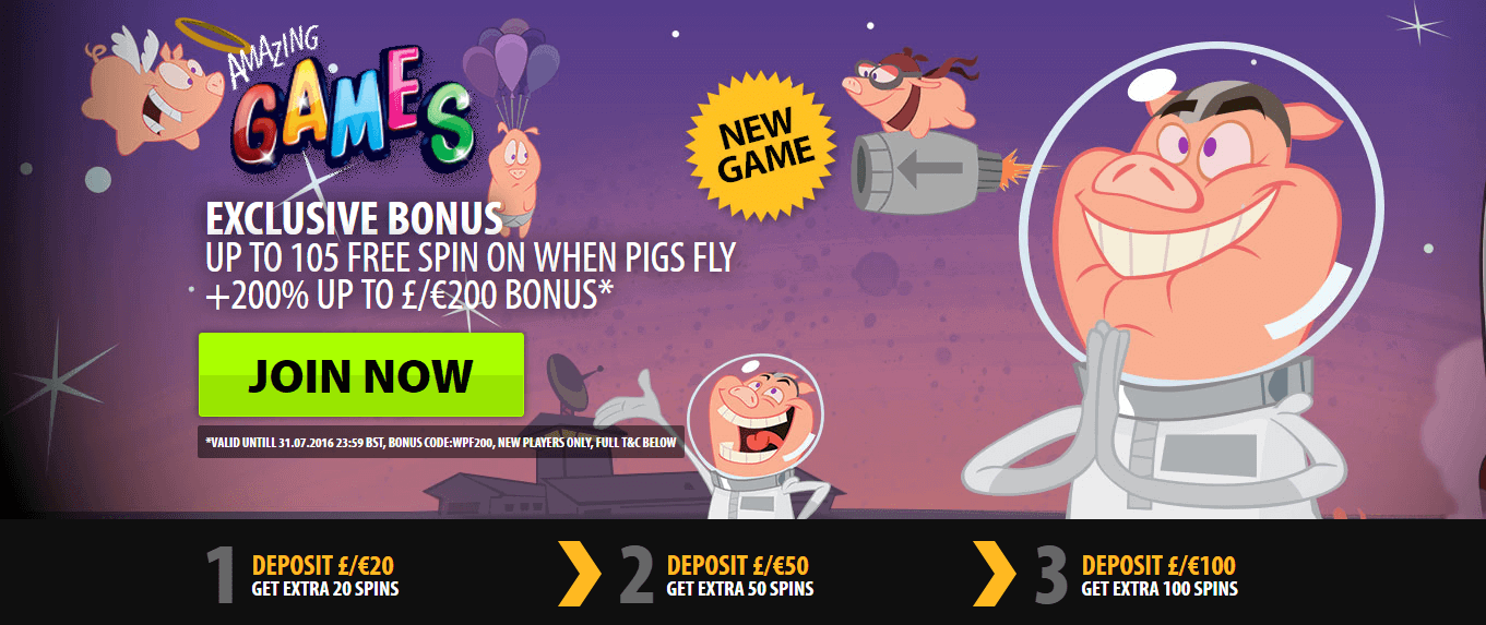 online casino free signup bonus no deposit required when pigs fly