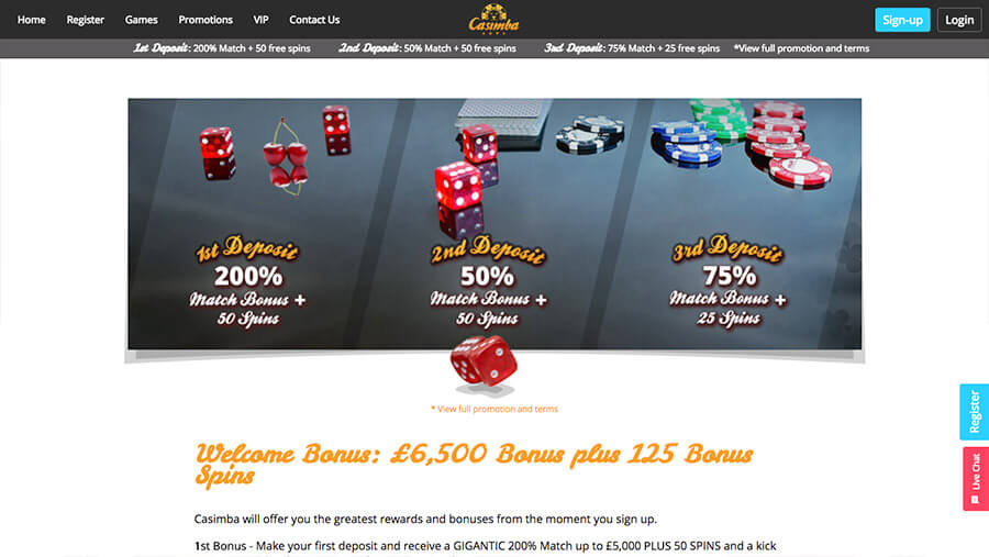 online casino casimba