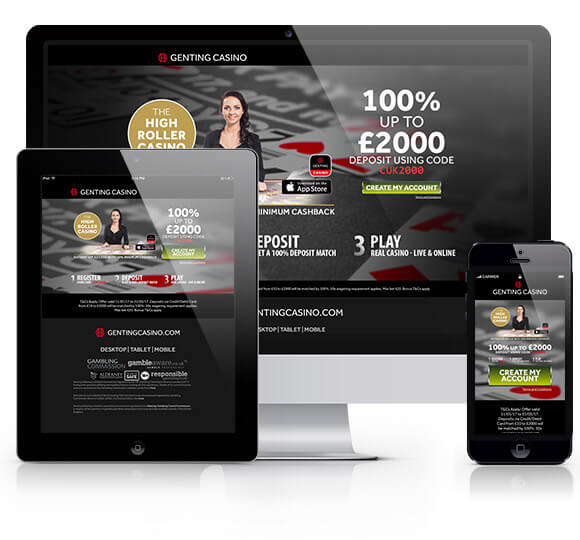 Genting Casino on a desktop, tablet and mobile