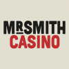 The Mr Smith Casino logo on a beige background