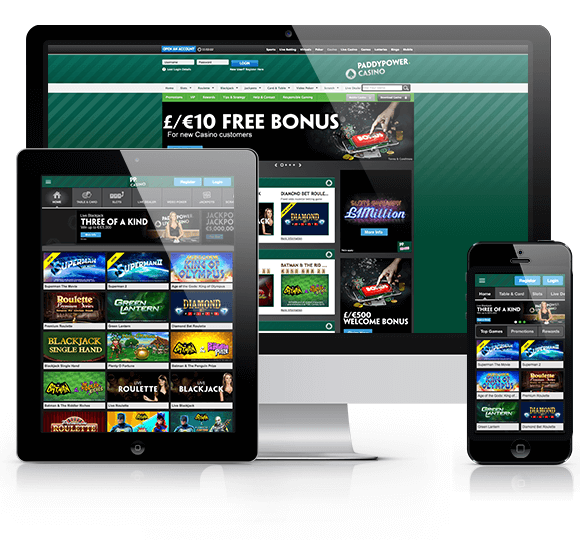 Paddy Power Casino Mobile Website