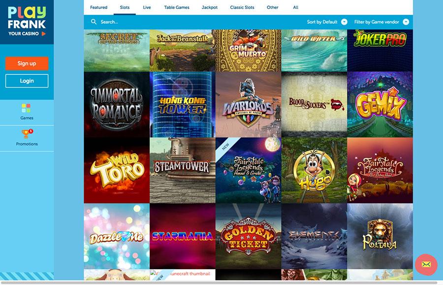 online casino gambling mega fortune