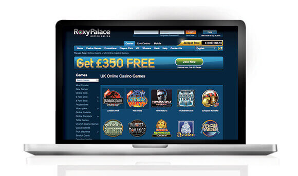 Roxy Palace Casino laptop