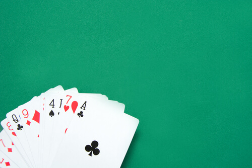 Image of a possible baccarat hand