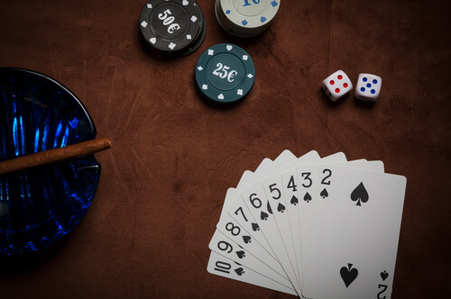 Image of various casino game elements