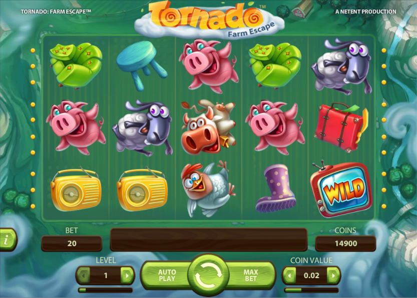 A screenshot of Tornado Farm Escape Gameplay