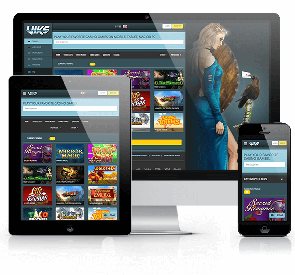 Viks Casino Website on Desktop and Mobile