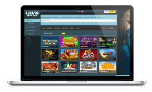 Viks Casino Website on Laptop
